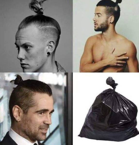 Man buns look trashy.