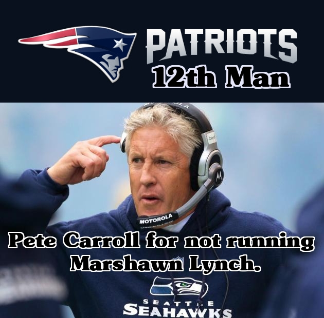 The New England Patriots' 12th Man.