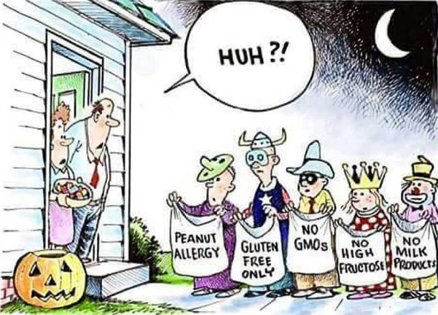 The new generation of trick-or-treaters.