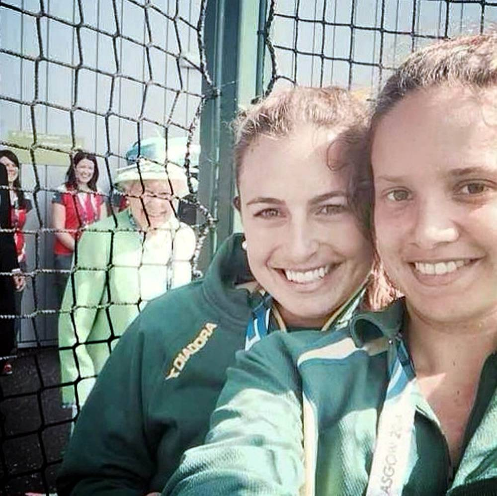 The Queen Photo Bombed Their Selfie