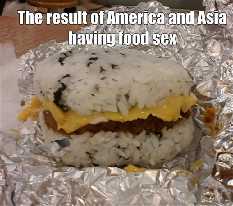 The result of America and Asia having food sex.