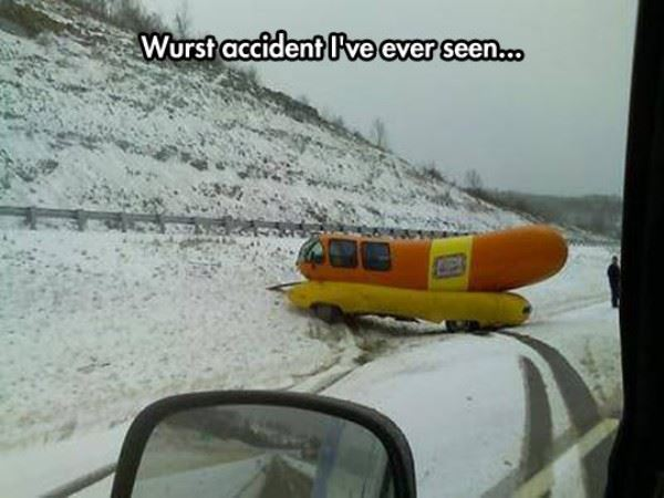 Wurst accident I've ever seen.