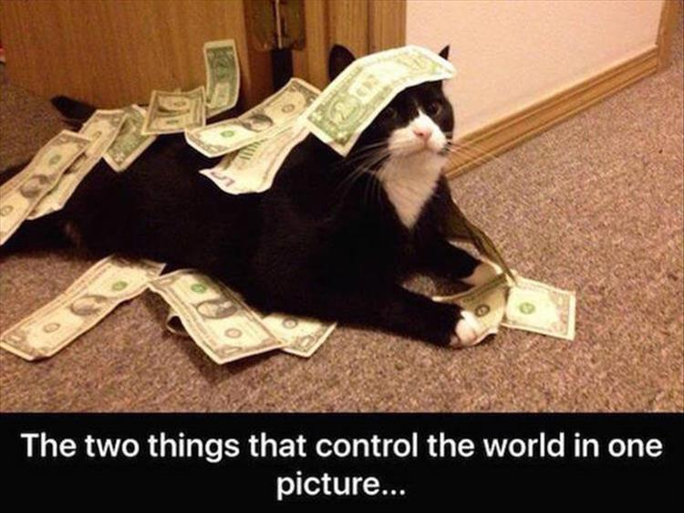 The two things that control the world in one picture.