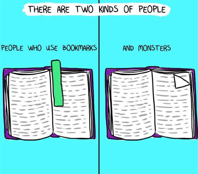 There are two kinds of people who read books.