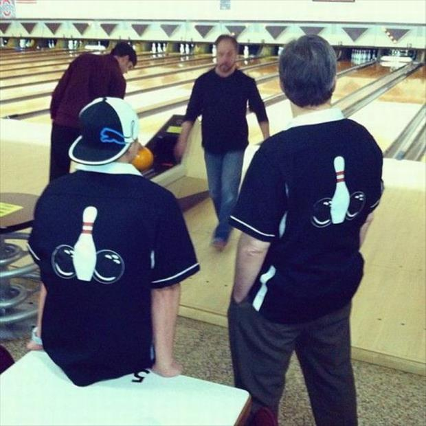 These male Bowlers are sure to impress all the ladies with their bowling shirts.