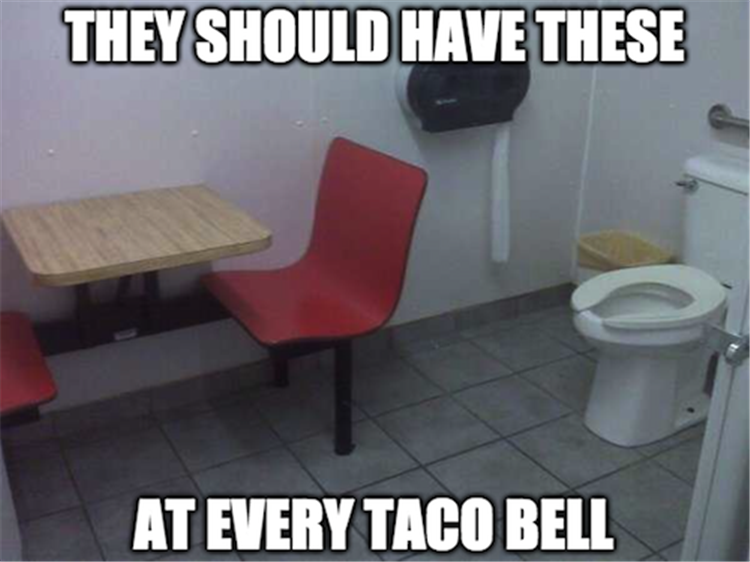 They should have these at every Taco Bell.