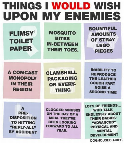 Things I would wish upon my enemies.