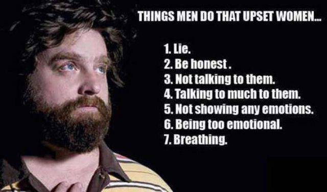 Things men do that upset women.