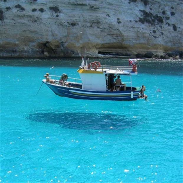 This Boat Floats Above The Water.