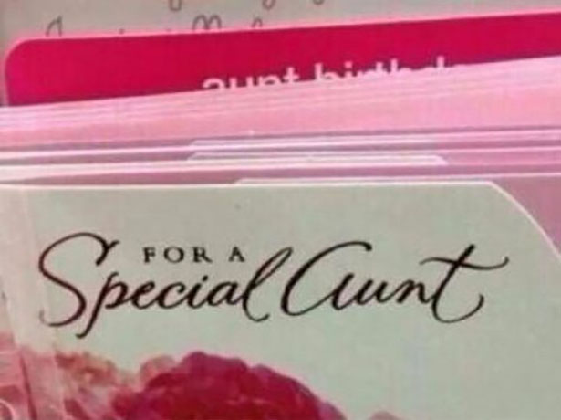 This greeting card needs a different font.