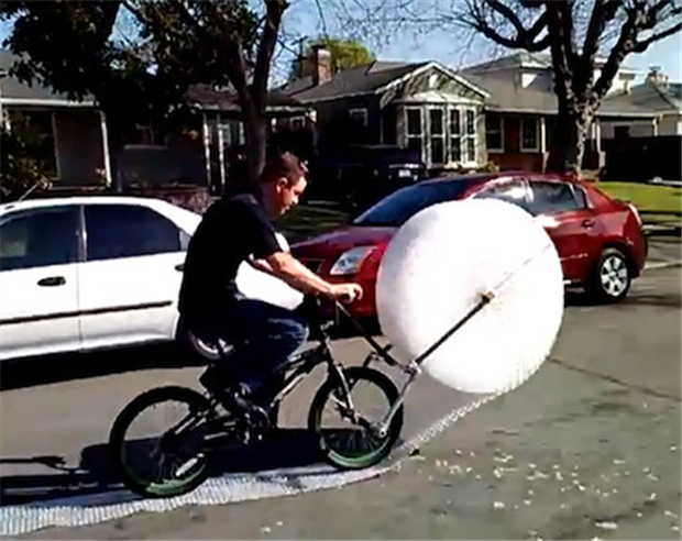 This guy has taken the joy of popping bubble wrap to a whole new level.