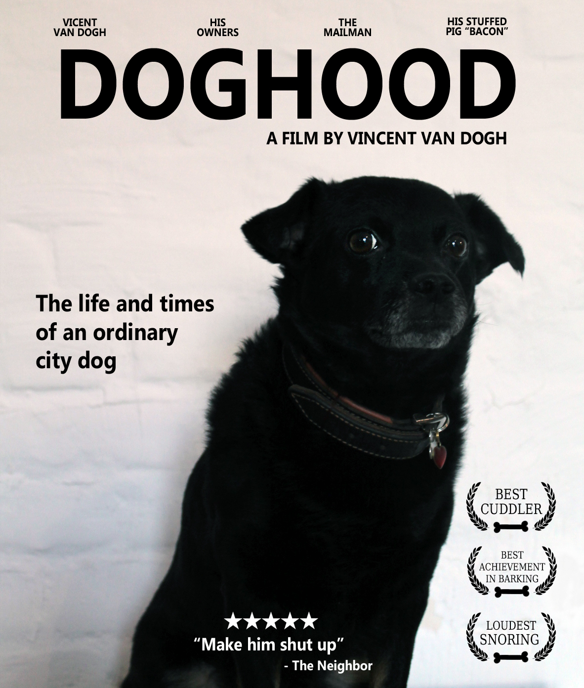 This guy loves his dog so much he made him his own movie poster.