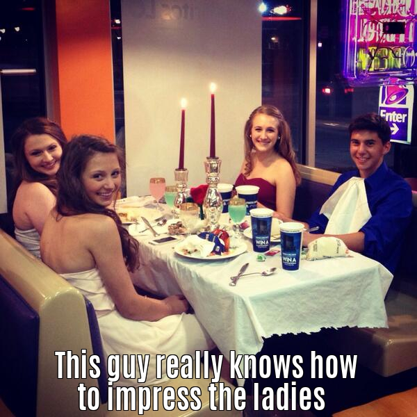 This guy really knows how to impress the ladies.