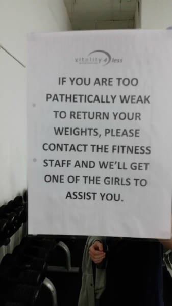 This gym really knows how to motivate its members.