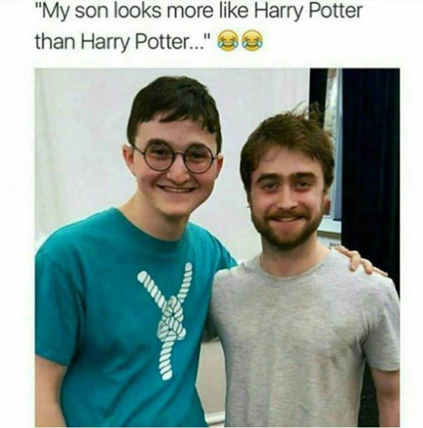 This guy looks more like Harry Potter than Harry Potter.