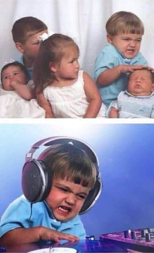 This kid was born to be a DJ.