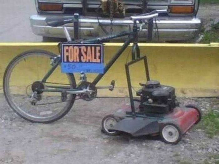 This riding lawn mower is a steal for only $50.