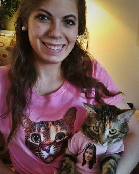 His sister and her cat share the same birthday, so he got them matching gifts.