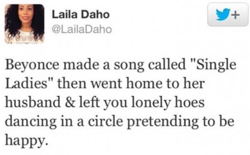 This Woman's Tweet Makes You Think Twice About Beyonce's Song Single Ladies (Put A Ring On It).