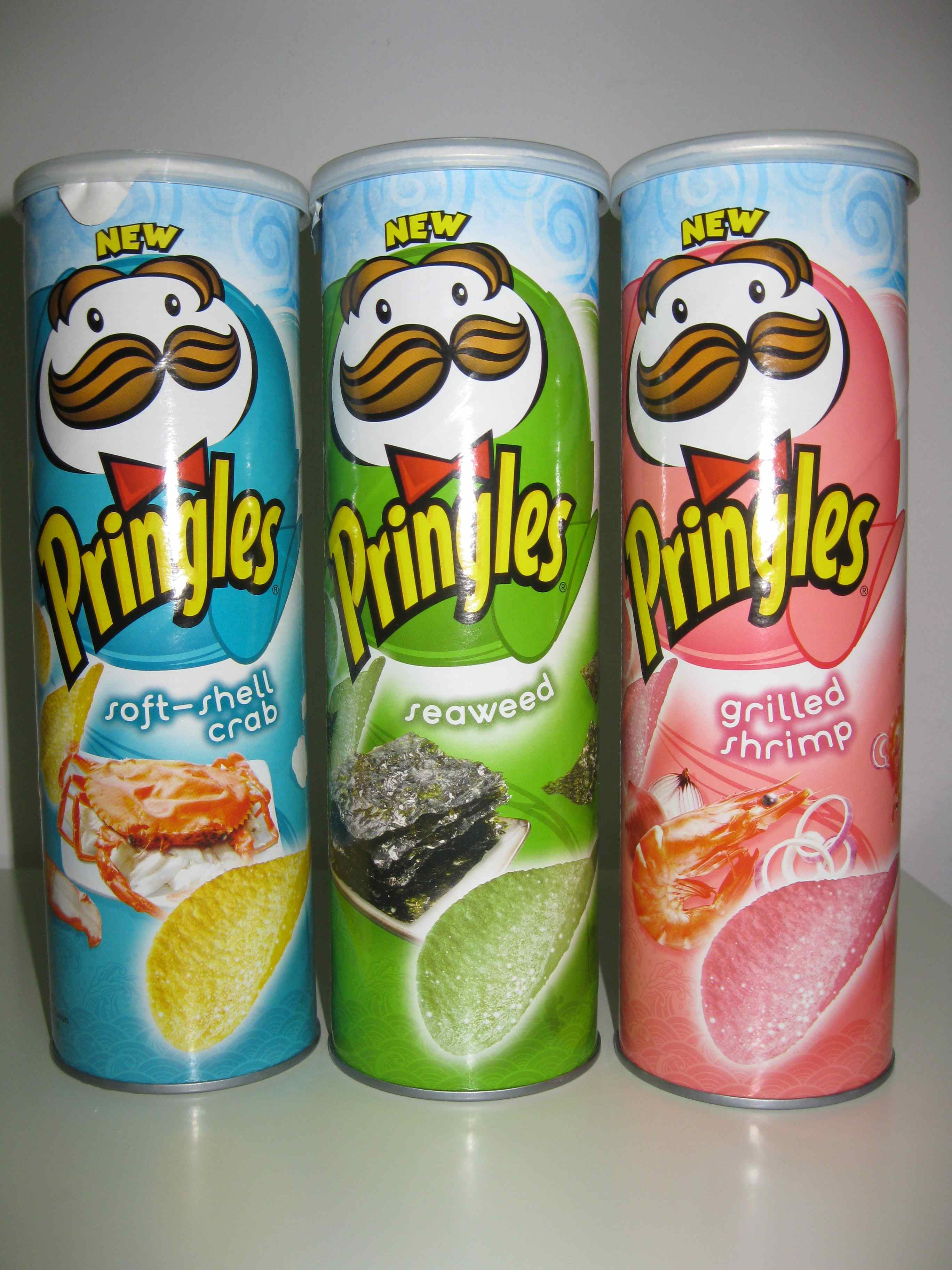 Three flavors of Pringles potato chips you probably never knew existed.