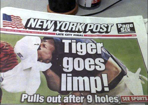 Tiger just can't keep up like he used to