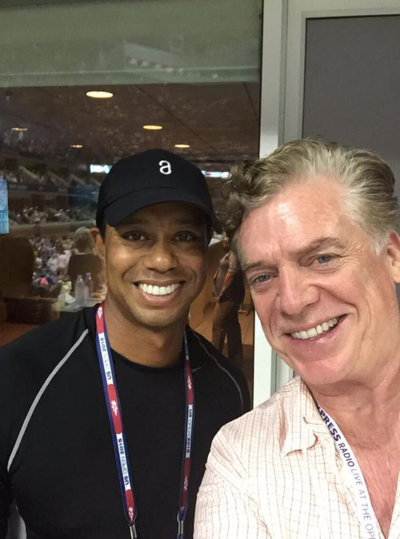 Two golf legends. Tiger Woods and Shooter McGavin.