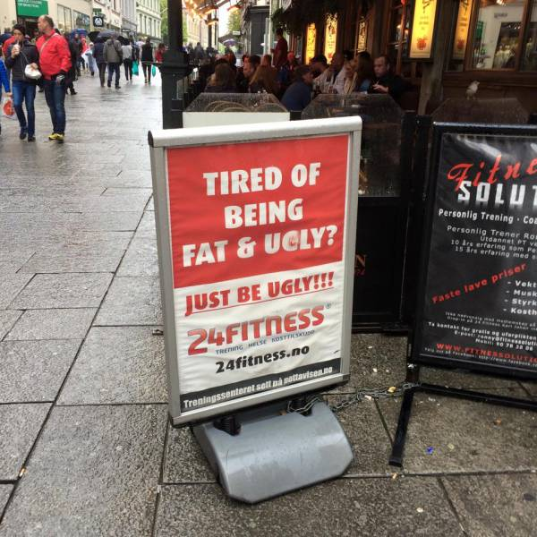 Tired of being fat and ugly?