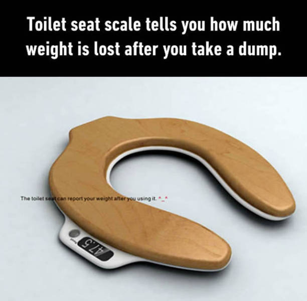 Toilet seat scale.