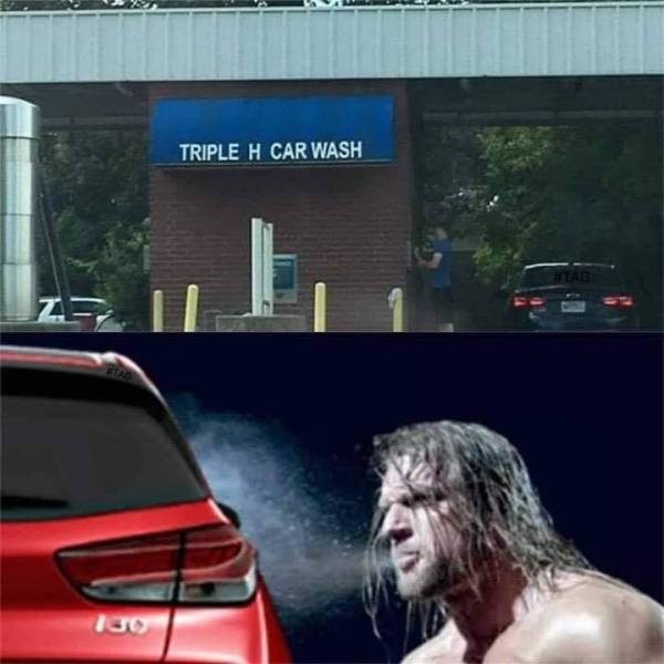 Triple H car wash.