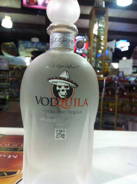 Vodquila is vodka and tequila which proves mixing different types of alcohol is a beautiful thing.