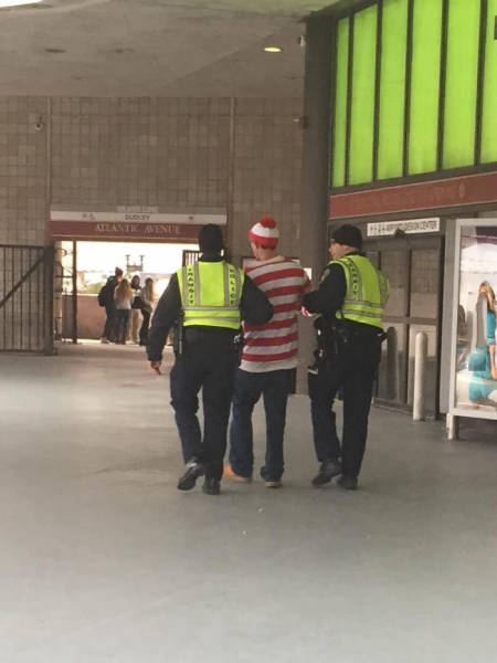 Waldo has been found...and arrested.