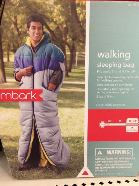 Walking sleeping bag may give the Snuggie some competition.