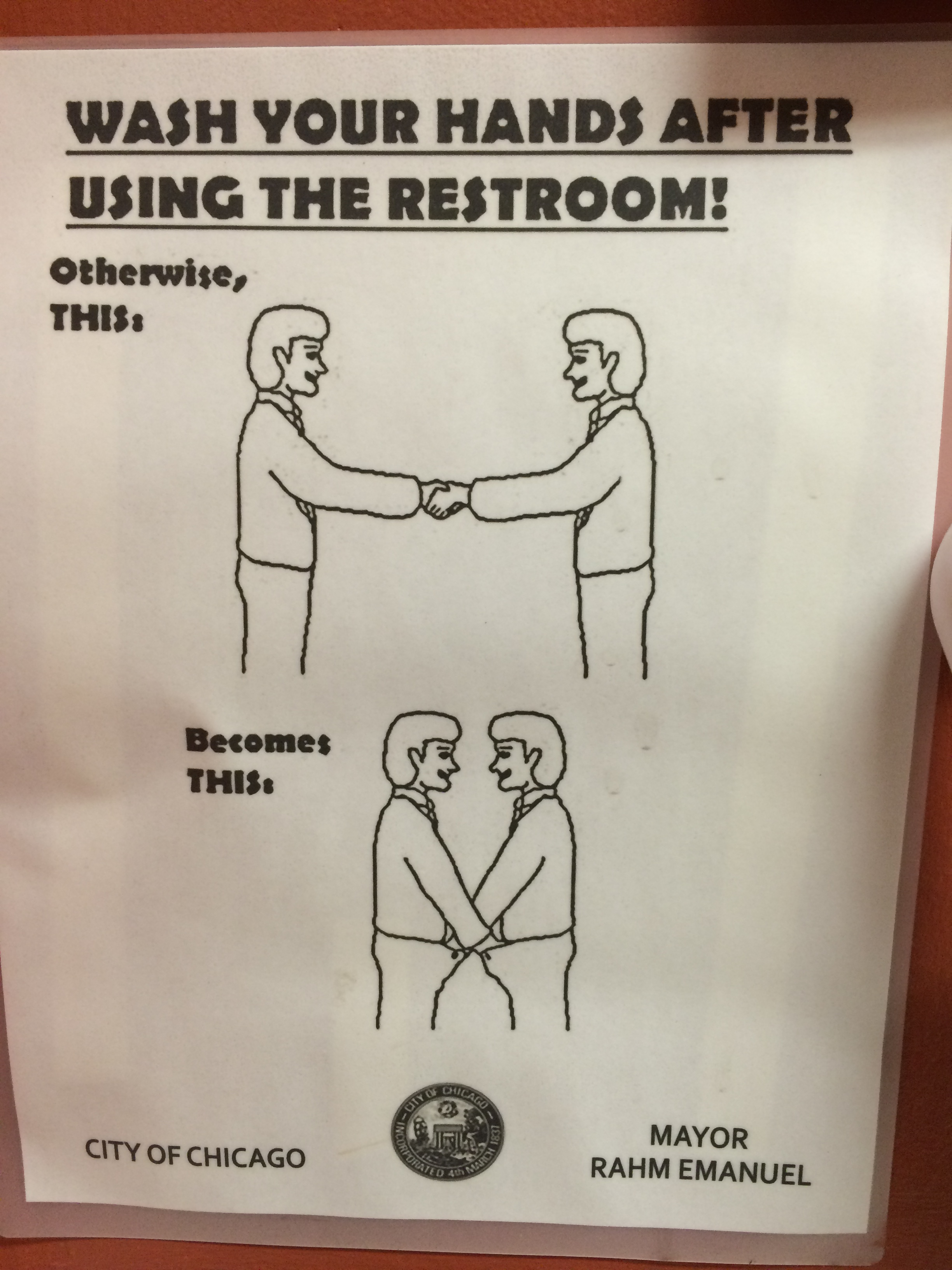 Wash your hands after using the restroom!
