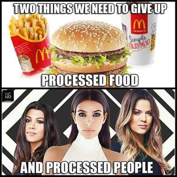Two processed things we need to give up.