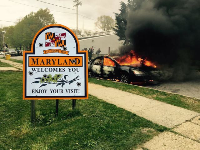 Welcome to Maryland. Enjoy your visit!