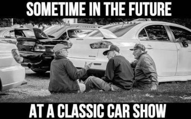 What a classic car show may look like in the future.