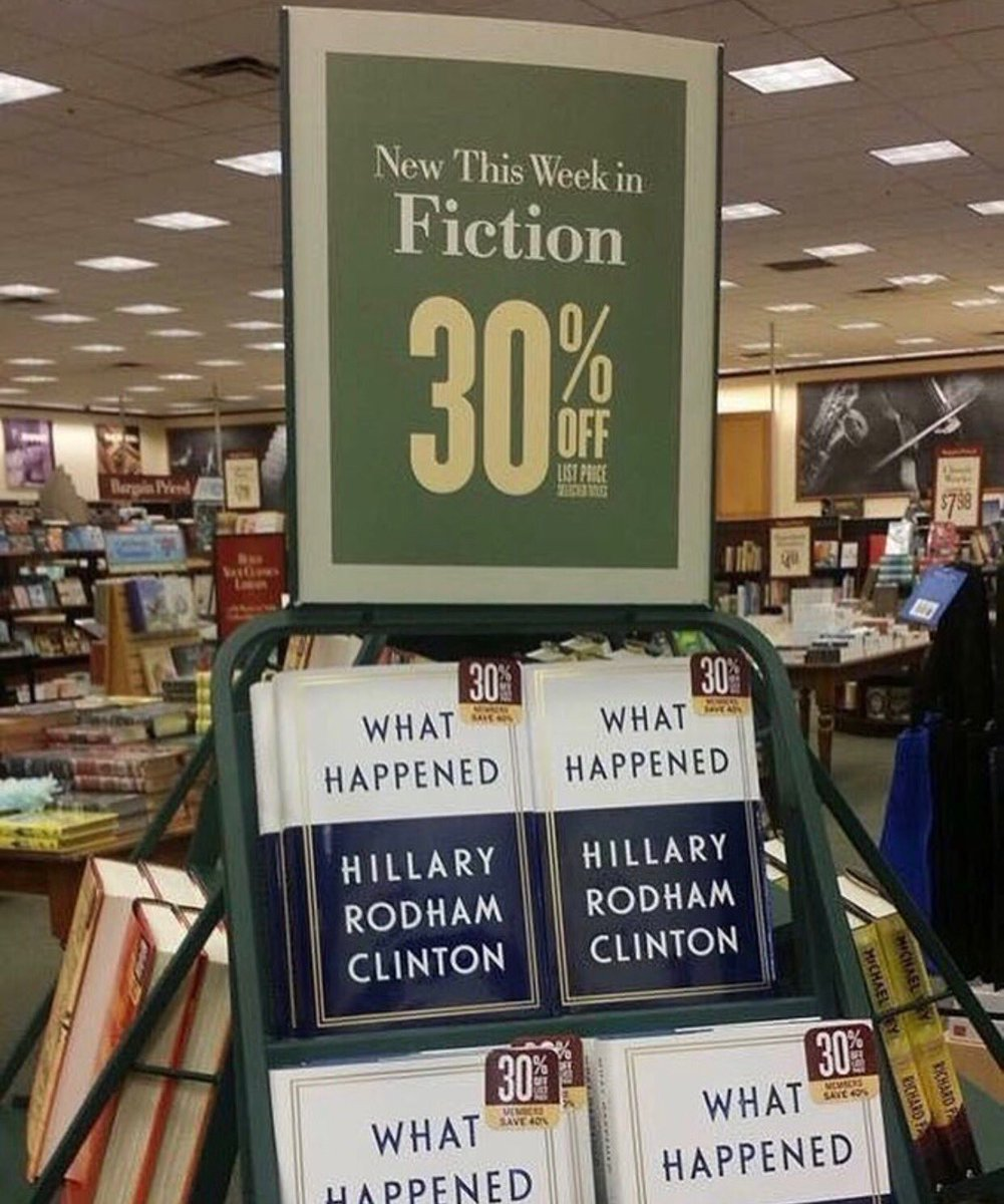 'What Happened' by Hillary Clinton is on sale now.