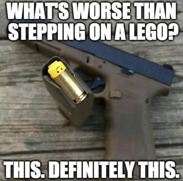 What's worse than stepping on a lego?
