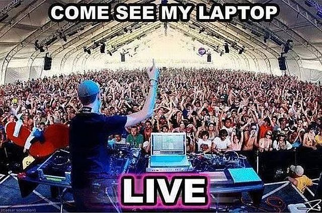 When you pay money to watch a DJ these days you are really paying just to look at their laptop on stage..