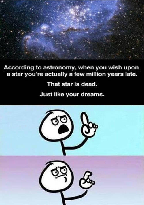 When you wish upon a star.