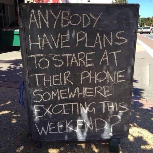 Where are you going to take your smartphone this weekend?