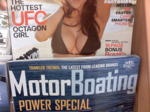 Motorboating magazine looks great on the rack.