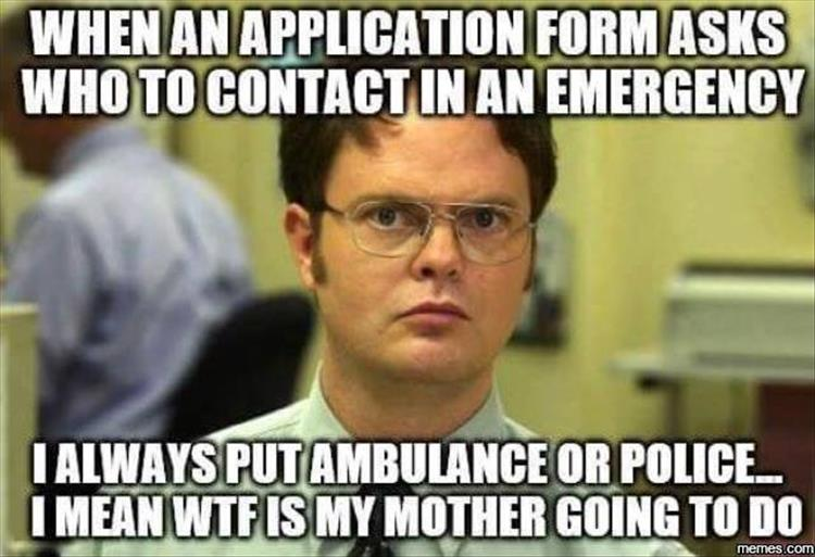 Who to contact in case of an emergency.