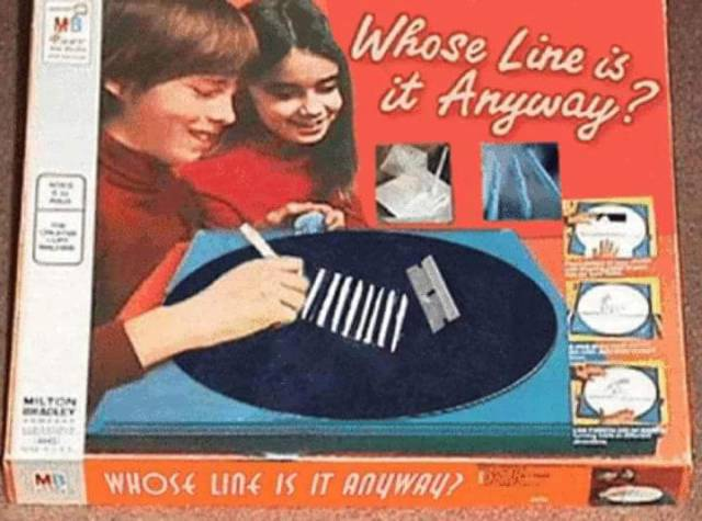 'Who's Line is it Anyway?' board game.