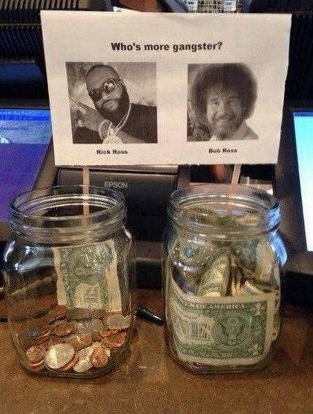 Who's more gangster? Rick Ross or Bob Ross.