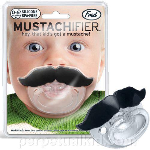 A Mustache Pacifier. Why didn't I think of that?