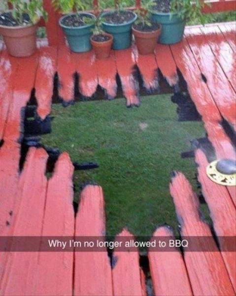 Why I'm no longer allowed to BBQ.