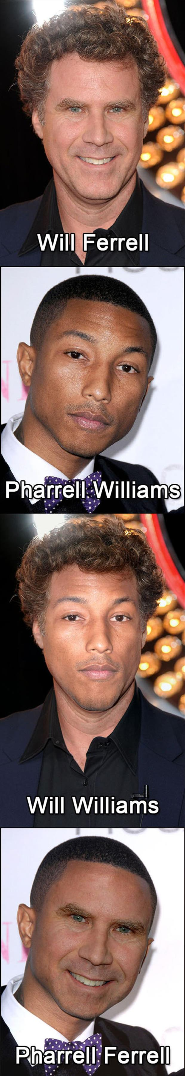 Will Ferrell And Pharrell Williams Morphed.