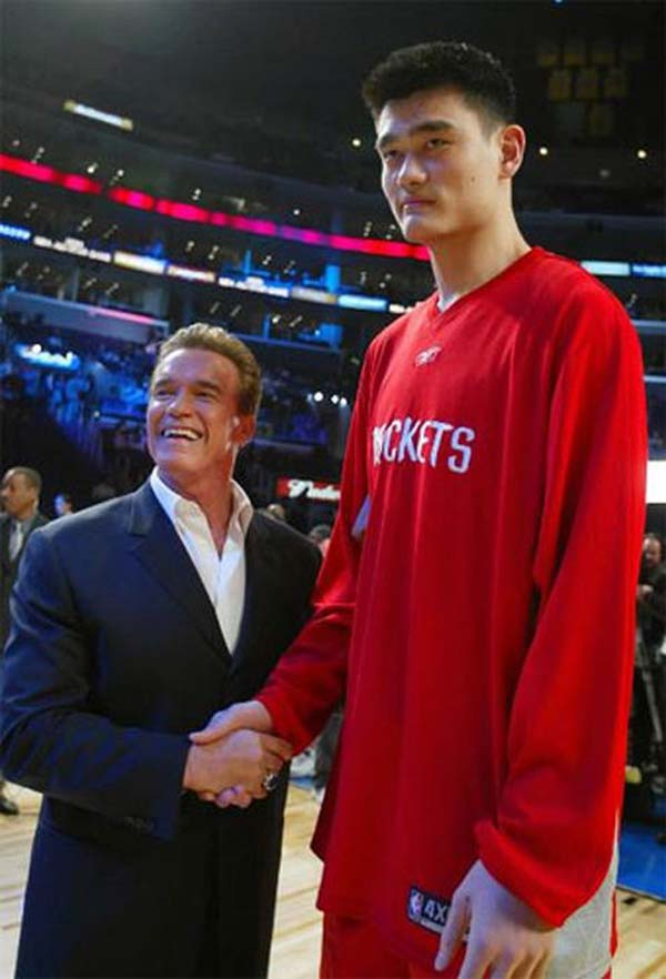Yao Ming makes the Terminator look like a small child.