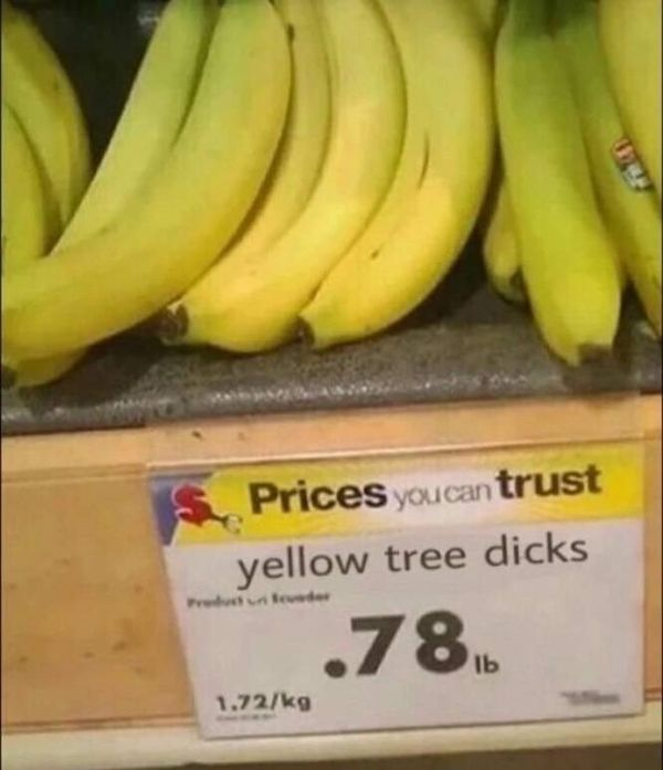 Yellow tree dicks.